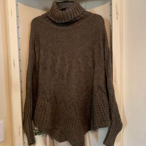Imperico Brown Knit Poncho/ Pullover